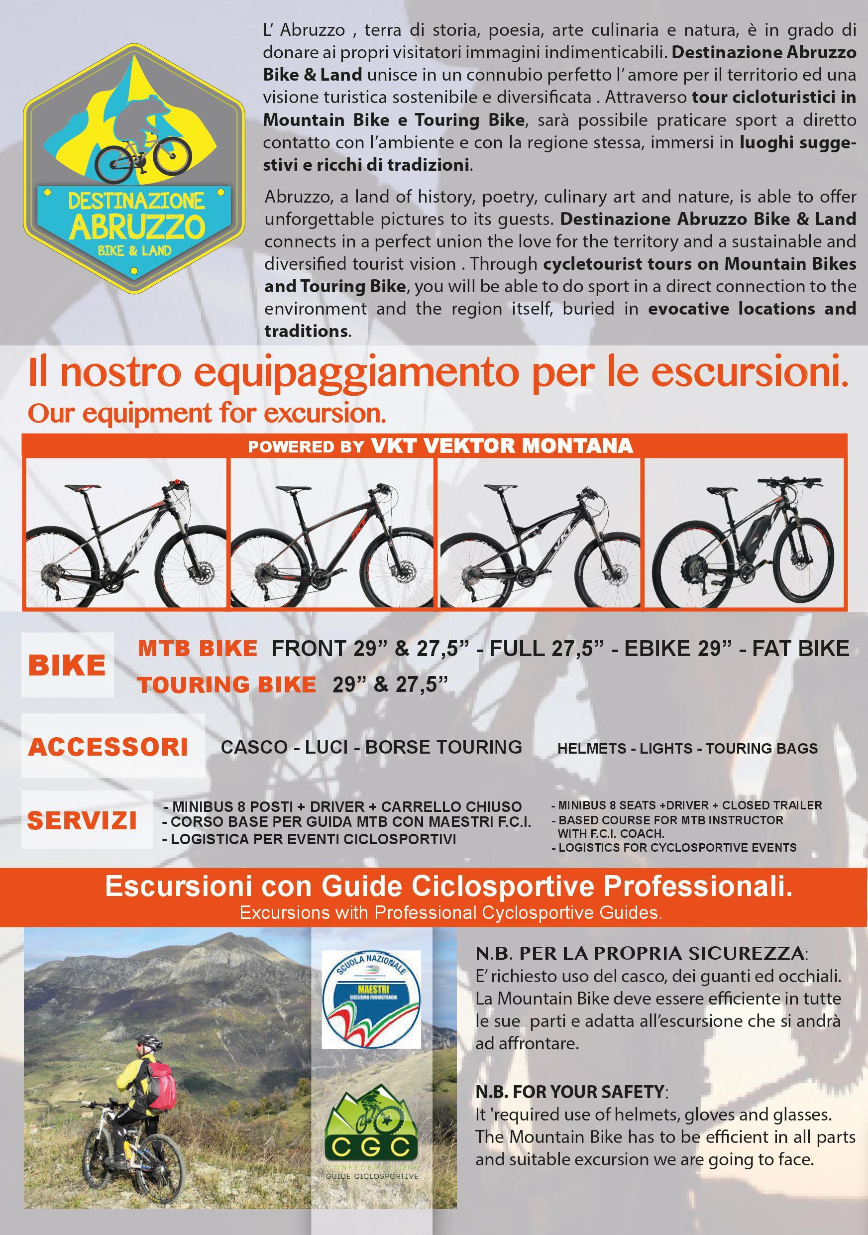 bike and land valle delle abbazie brochure