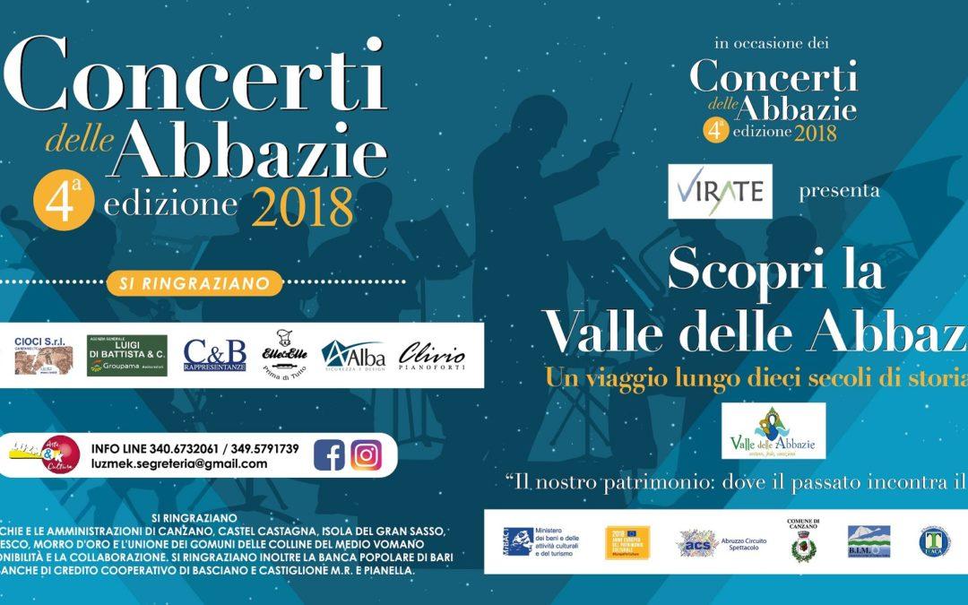 Concerti delle Abbazie 2018 – Anno europeo del patrimonio culturale
