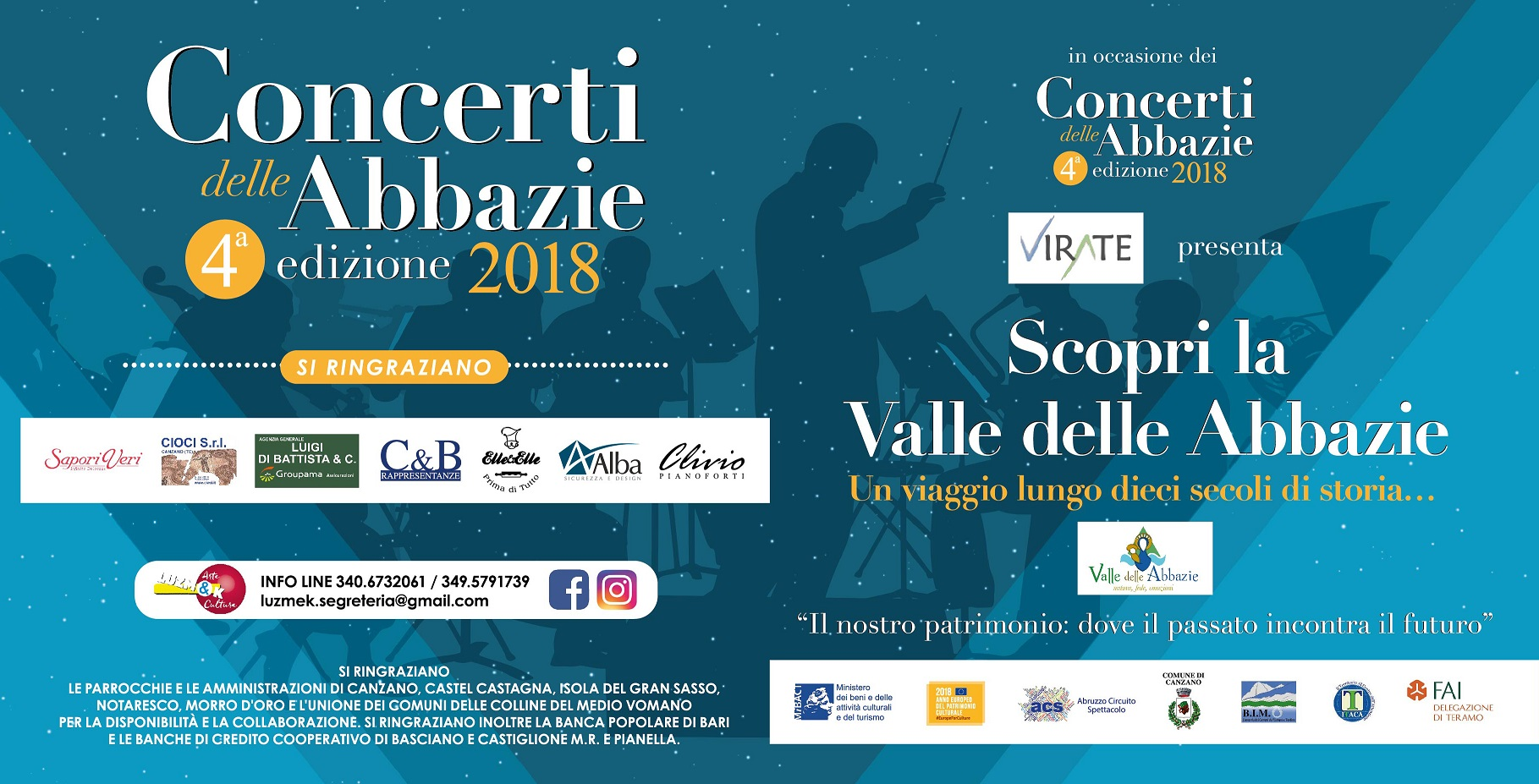 Circuito Alba : Pieghevole 15x15 turistici 2018 valley of the abbeys